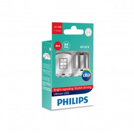 LED αυτοκινήτου ULTINON P21/5W Red 12V 111499ULRX2 PHILIPS